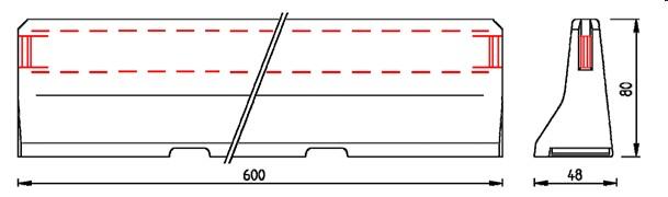 delta bloc AS-R mostní svodidla
